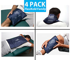 FlexiKold Gel Cold Pack FAMILY 4-PACK (Includes all 4 FlexiKold Sizes) Ice Packs