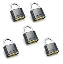 LOT OF FIVE (5) Resettable Combo Lock (Combination Padlock) Heavy duty Lock