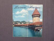 Reiseprospekt Luzern in der Schweiz, um1954