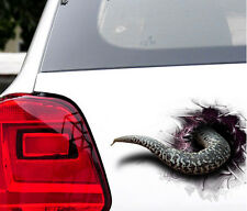 3D Stereo Simulation Funny Car Sticker Rattlesnake Snake Tail Door Hood Decal