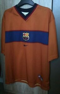 Barcelona Away Football Shirt 1998/00 Nike Large Barca La Liga