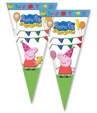 Peppa Pig Festa Violoncello Coni Sacchetti Confezione da 10 oggetti abbinati