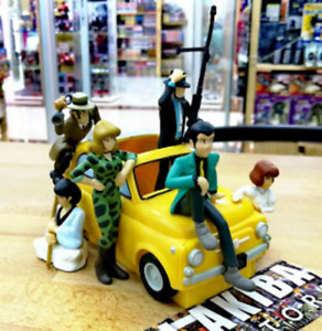 6 Figure Diorama Full Set LUPIN III THE 3rd THIRD FIAT 500 Miyazaki Cagliostro
