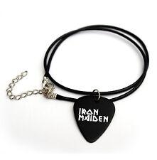 """Iron Maiden Pua logotipo impreso 18"""" Púas Plectrum Sintético Collar"""