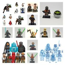 lego star wars minifigures-darth vader-kyloren-luke-yoda-the mandalorian-leia-tv