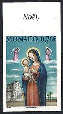 MONACO n° 3005, Noël Vierge à l'Enfant, NON DENTELE IMPERF, TB ** et RARE