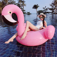 Giant Large Junbo Inflatable Swimming Pool Pink Flamingo Ride-On Float Raft Toy