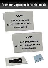 WT-LPE8K2 WT Nixxell Battery (2pack) for Canon LP-E8, EOS 550D, EOS 600D
