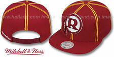 Redskins 'XL-LOGO SOUTACHE SNAPBACK' Burgundy Adjustable Hats by Mitchell and Ne