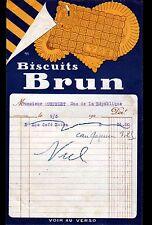 """GRENOBLE (38) BISCUITERIE """"BISCUITS BRUN / THE"""" illustrée RJL en 1920"""