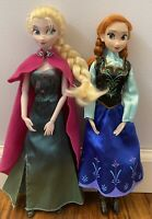 Disney Store Elsa Anna Doll Lot Frozen