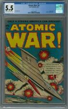 Atomic War! #4 CGC 5.5 (C-OW) Atomic explosion panel Lou Cameron art