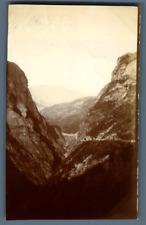 Paysage montagneux à identifier Vintage silver print Tirage argentique d'