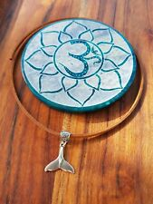 Anklet Whale Tail Carved Bail Suede Leather Tie Up Choker Bracelet Bohemian ♡