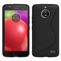 "Housse Etui Coque TPU Silicone S-Line NOIR pour Motorola Moto E4 5.0"" XT1766"