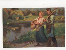 Fritz Raupp Feierabend Vintage Art Postcard 282b