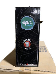 One case of 10 boxes x EPIC WIPES XL 10-PACK MASSIVE WET WIPES.  100 pieces.