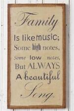 Burlap Canvas Print - Family is Like Music - New! - 8WH308