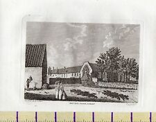 1784 Antico Piccolo Georgiano stampa ~ Nero FRIGGITRICI Newcastle ~ Northumberland