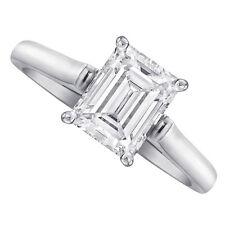 18kt J/K VS1 1.00ct Solitaire Emerald Cut Diamond Engagement Ring Certified