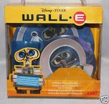 NEW IN BOX DISNEY  PIXAR WALL E DINNERWARE  ROUND SET PLATE, CUP AND BOWL