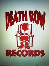 "Death Row Vinyl Decal Sticker 6.5"" X 5.7"" Tupac, Suge Knight,Dr. Dre, Snoop Dogg"