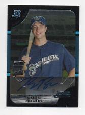 Ryan Braun Brewers 2005 Bowman Chrome #BDP168 Auto Rookie Card rC NM-MT QTY