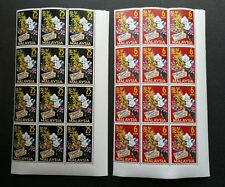 Malaysia 4th World Orchids Conference Singapore 1963 (stamp block 12) MNH *Rare