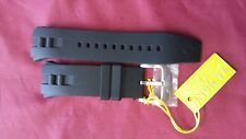 24mm Black Rubber Watch Band Strap For Invicta curved ends