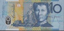 $10 1993 Last Prefix KE93 Blue Dobell Unc Fraser/Evans KE Australia Ten Banknote