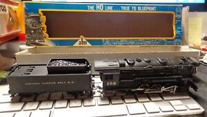 Vintage AHM 5018 Indiana Harbor Belt RR Locomotive Switcher Engine +Tender w Box