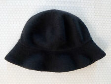 PATRICIA UNDERWOOD Black Cashmere Knit Bucket Fishermans Hat OSFA