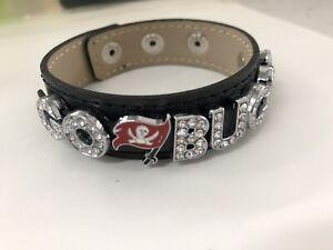 Tampa Bay Buccaneers Rhinestone Football Bracelet / Super bowl 2021 / NFL Footba