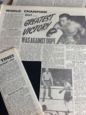 N1-8 Ephemera 1953 Folded Article Barney Ross Boxer