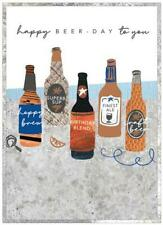 Happy Birthday - Beer Day - Copper Foil Birthday Blank Greeting Card