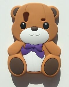 NEW 3D Kids Brown Teddy Bear Silicone Phone Case Cover Samsung Galaxy Ace S5830