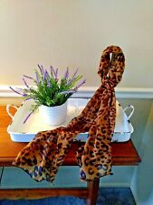 Long Chiffon Leopard Print Scarf Infinity New in Package FREE SHIPPING #59