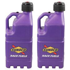 2 Pack Sunoco Racing Purple 5 Gallon Race Gas Alcohol Diesel Can Fuel Jug