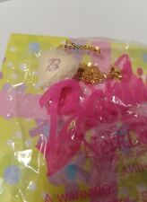 Barbie Necklace Heart-Shaped Locket With Mirrored Jewelry Box Gift Set New