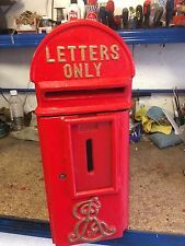 Cast Iron Edward VII post box cast iron ER royal mail box reproduction