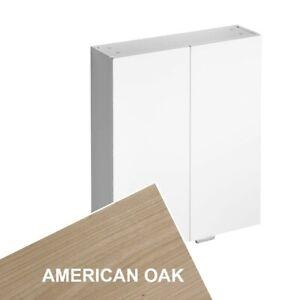 Ideal Standard Concept 2 Door Wall Unit 600mm Oak Brown Art E6468SO