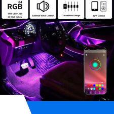 RGB LED Ambient Light Car Door In-Dash Threadless Optic Stripe Footwell Lamp
