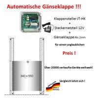 Hühnerklappe JT-HK mit Steckernetzteil + Klappe / Schieber für Gänse !