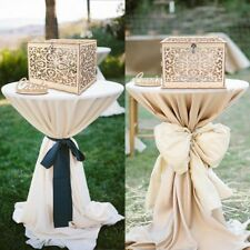 Wooden Wedding Card Post Box + Lock Weddings Birthday Collection Gift Card Boxes