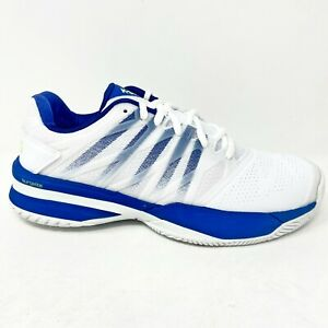 K Swiss UltraShot 2 White Blue Mens Tennis Shoes 06168 163