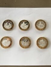 Complete set of 6 Different Silver Casino Tokens Explorers of the America Series