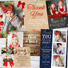 10 Personalised Christmas Thank You Notes Kids Cards Xmas Photo Folded Postcards