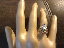 QVC Diamonique DQ Cubic Zirconia Sterling Silver .925 Ring Size 5