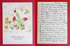 Künstler Glückwunsch AK von Hildegard Funck 1941 Zwerg Zwerge Geburtstag ( 18909