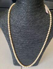 Ancien Beau Collier de perles fermoir Or 18K 73 cm